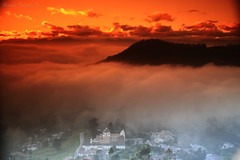 Shadows from the Fog - Sombras de las Neblina (Bernai Velarde Photography ) Tags: morning church southamerica fog clouds ecuador iglesia amanecer nubes niebla guapulo bernaivelarde