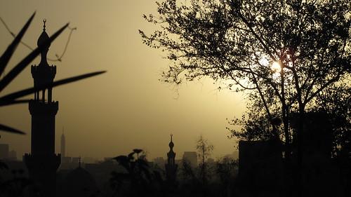 Sunset at Al Azhar Park, Cairo