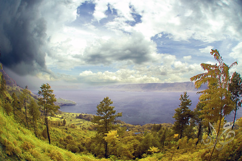 Samosir Island view from land, Danau Toba (Visible IR)