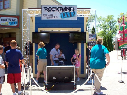 Cedar Point - Rock Band Live Tryout Area