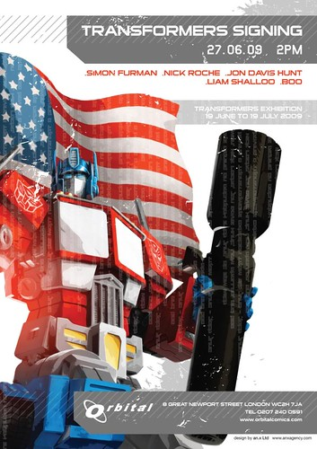 Transformers Signing Poster