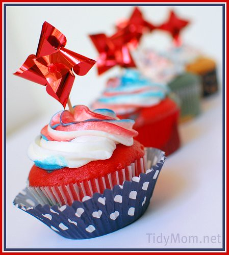 4th of July Patriotic cupcakes