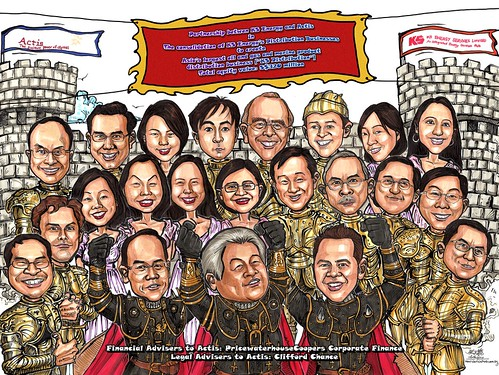Group caricatures for Pricewaterhouse Coopers A3 edited