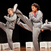 Ursula Ulrich, Nicole Bailey and Gezelle Collison in the student theatre production Trek
