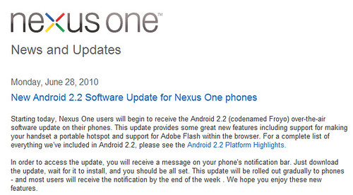 Nexus One Android 2.2