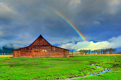 The Life I Imagined, Grand Teton National Park (Ireena Eleonora Worthy) Tags: morning usa sunrise us rainbow nikon colours wyoming grandtetonnationalpark potofgold antelopeflats moultonbarn mywinners d700 northernstraitsphotography