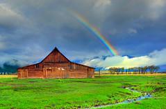 The Life I Imagined, Grand Teton National Park (Northern Straits Photo) Tags: morning usa sunrise us rainbow nikon colours wyoming grandtetonnationalpark potofgold antelopeflats moultonbarn mywinners d700 northernstraitsphotography