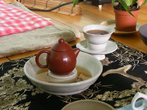 Tea setups without a  tea table