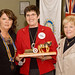 Doreen Johnston receives the Clydesdale Award for Rotarian of the Year from Barbara Norris