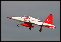 TURKISH STAR NF-5A 3066 (Gaz West) Tags: red white color colour ex netherlands june by stars freedom interesting team fighter force display colorfull smoke air tiger jet formation explore land about af f5 trainer turkish picnik raf 29th 2010 osman waddington canadair northrop flown freedomfighter displayteam turkishairforce nf5 3066 turkishstars nf5a tigerii k3066 yici coulurfull