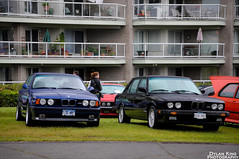 BMW E28 and E34 M5 (Dylan King Photography) Tags: blue 2002 red orange canada black vancouver silver nikon doors open bc britishcolumbia interior side alpina north headlights front porsche mercedesbenz bmw 20 van m6 m5 touring gullwing waterfrontpark e34 533i 914 biturbo e28 d90 635csi b10 e24 e31 300s 850i germancarfestival2010