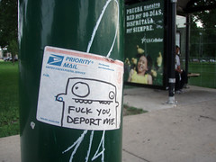 Deport Me (Barrybu) Tags: street chicago art me grafitti deport
