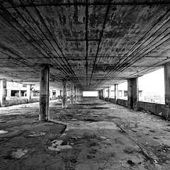 No Parking (Thomas Hawk) Tags: bw usa abandoned graffiti unitedstates 10 michigan unitedstatesofamerica detroit urbanexploration packard packardplant urbex fav10 detroit0610dmu