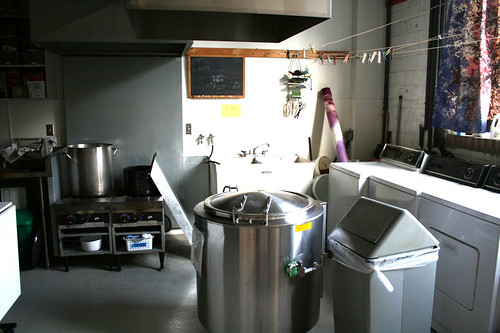 Dye Lab - Cooking/Washing/Drying Area