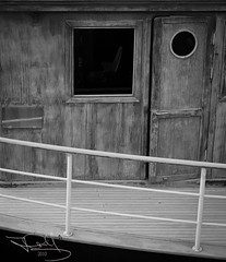 abandoned ship (Hanan MH) Tags: wood shadow sea blackandwhite white wet water glass dark blackwhite interesting shadows shades sail kuwait hananmhkuwait hananmh
