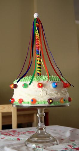 may pole birthday cake