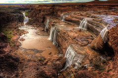 Grand Falls of Northern Arizona (Mike Olbinski Photography) Tags: road arizona mountains rocks waterfalls rivers northernarizona deserts hdr grandfalls greatphotographers digitalphotographyschool luepp sonyphotochallenge mikeolbinskicom