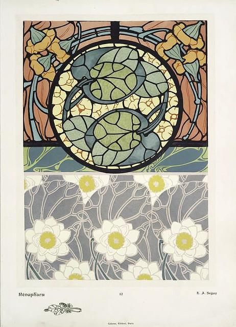 003-Nenufares-Les fleurs et leurs applications decoratives 1902- Eugene Alain Seguy