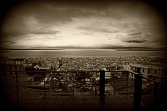 A view from the old city of Thessaloniki (OUR balcony) (Lambros Kazan) Tags: thessaloniki πύργοστριγωνίου