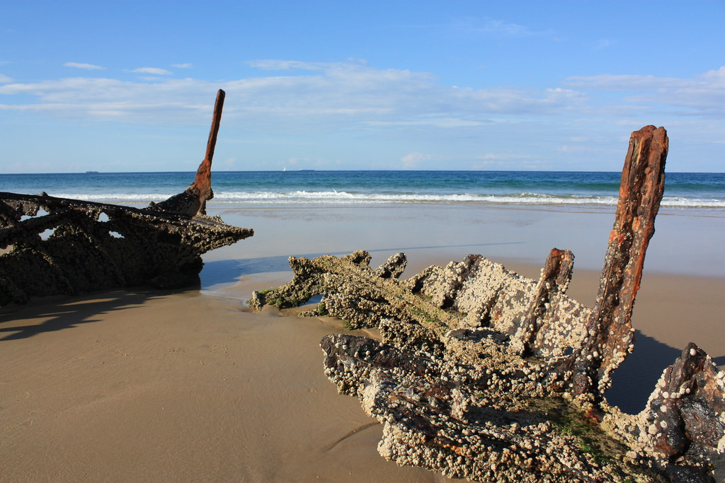 The wreck of the SS Dicky on the Sunshine Coast.