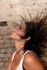 karla2-112 (paulmhooper) Tags: portrait woman sexy brick wet girl beautiful fashion hair photography model nikon pretty photos lexington kentucky gorgeous bricks flip brickwall karla wethair hairflip d90 modelphotography nikond90