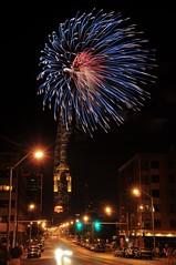 Fireworks 5 (12Jeepgirl~Never look back...) Tags: city night photoshop lights nikon downtown fireworks iowa adobe desmoines lightroom d300 cs4 digitalcameraclub nikonflickraward flickrunitedaward