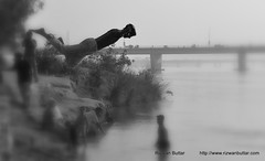 His First flight (rizwanbuttar) Tags: pakistan summer water river flight first ravi his lahore rizwan buttar
