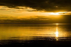 Golden Sunset (Kristinn R.) Tags: sunset sea sky sun clouds iceland soe garðabær supershot diamondclassphotographer flickrdiamond yourwonderland onlythebestofnature