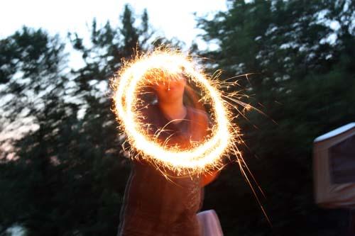 sparkler tricks.