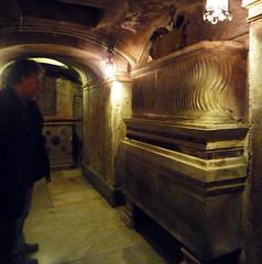 Basilica of Santa Prassede, me in crypt below altar