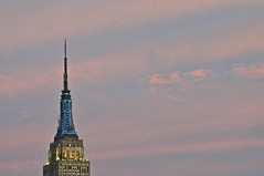 another empire (bytegirl24) Tags: nyc newyorkcity sky cloud tower manhattan spire midtown needle esb empirestatebuilding