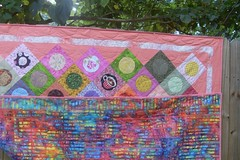 Rho's Polka Dot Quilt -- front and back