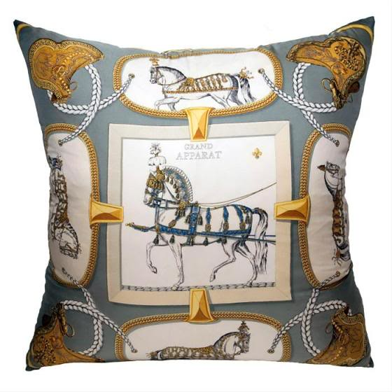 hermes scarf pillow 2