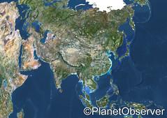 Asia - Satellite image - PlanetObserver