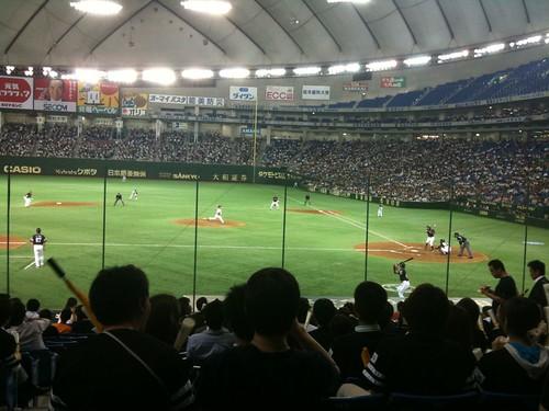 東京ドーム野球感染
