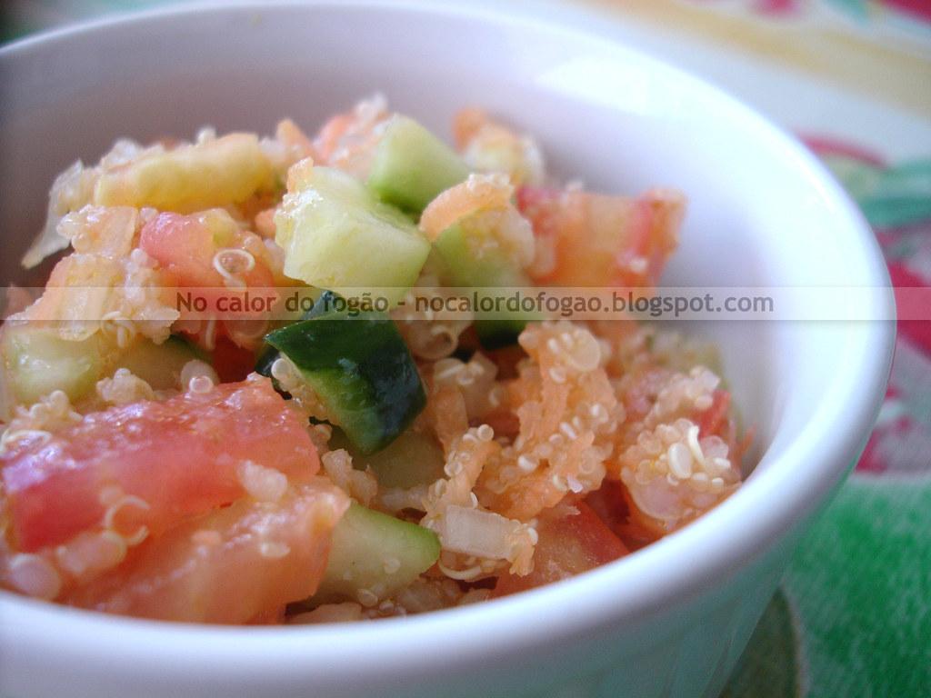 Tabule de quinoa e amaranto