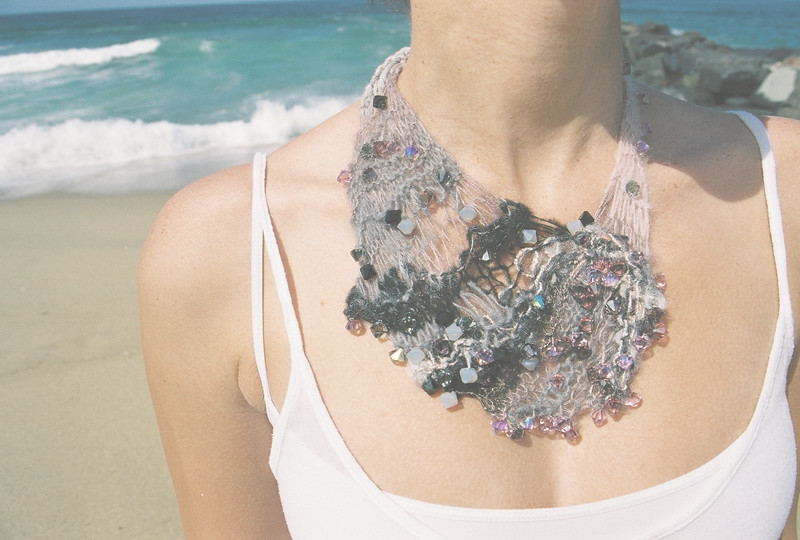 Knitted mohair necklace by shadowplay 26