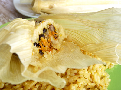 Viva Vegan - Black Bean - Sweet Potato Tamales