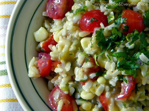 Southwest Rice Salad with Lemon Dressing
