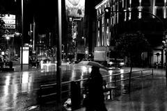 Gran Via (||S| GammaSintesi) Tags: madrid street city urban blackandwhite bw espaa rain night canon spain strada streetphotography pioggia notte spagna citt granvia monocrome 500d