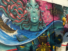 Sok, Saturno AGS & Turkesa (me) (TURKESA (old profile)) Tags: colors girl wall painting graffiti colorful underwater treasure medusa moray saturno ags sok turkesa sokone rabodiga saturnoags turkesart