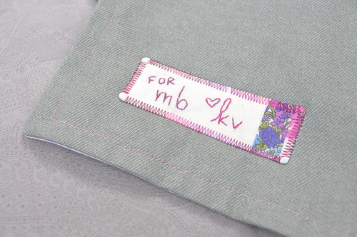 Embroidered Patchwork Label