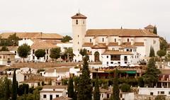 Blick auf St. Nicolas, Granada, Andalusien