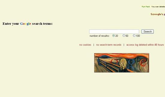 Scroogle's Google Scraper Page