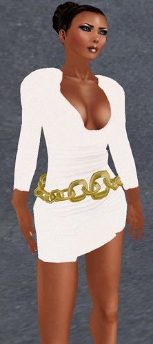 Glow Studios Chain Dress and YSYS Halle Glow skin July 10 2010