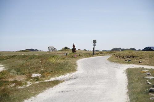Woman on a horse in Brignogan