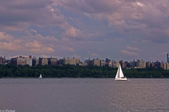 fleet of sails (t. s. Rohani) Tags: new york city blue sunset red water skyline clouds canon boats photography cool interesting sail hudson rohani tameh