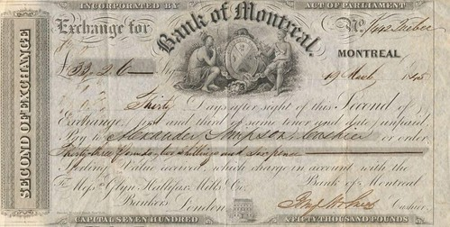 Bank of Montreal Second Bill of Exchange