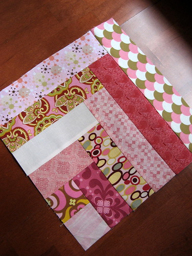Pretty in Pink Bee - August Block 1 - angle view