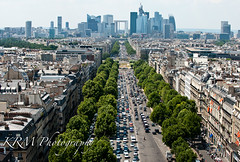 Avenue des Champs-Elysees and Le Grande Arche de la Defense, from the Top of the Arc de Triomphe (legalwheel) Tags: champselysees ladefense arcdetriomphe grandearchedeladefense topofthearcdetriomphe grandarchdelafraternitie